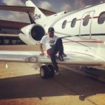 Davido's Private Jet Finally Arrives Lagos [Photo]