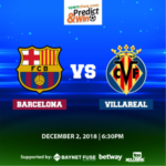 Sportcheq.com Predict & Win Game. FC Barcelona vs Villarreal