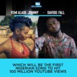 "Yemi Alade's ""Johnny"" Vs Davido's ""Fall""… Which Will First Hit 100 Million Youtube Views?"