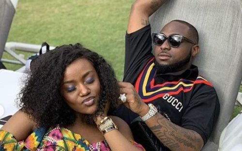 Watch Moment Davido Pressed Chioma's Breast Intensely In Front Of Passengers On A Plane 1