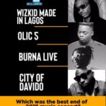 """Wizkid Made In Lagos,"" ""OLIC 5,""Burna Live"" & ""City Of Davido"" – Which Was The Best End Of 2018 Music Concert?"