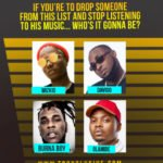 Which Artiste Will You Drop From This list???