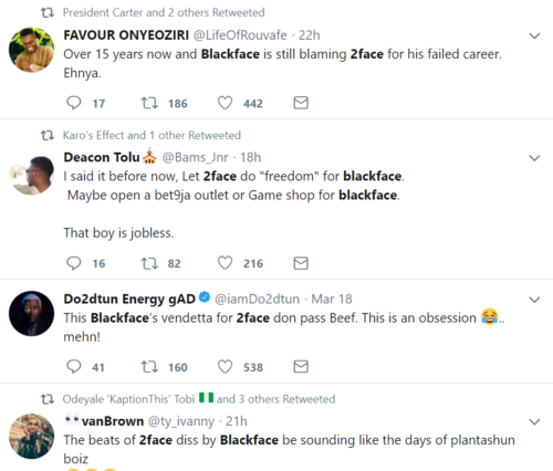 Blackface's Diss Track To 2face Already Causing Chaos On The Internet || See Fans' Reaction