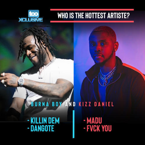 """At The Moment, """"Burna Boy"""" or """"Kizz Daniel"""".. Who Is Hotter?"""