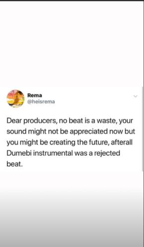 "Mavin's New Act; Rema Reveals ""Dumebi"" Instrumental Was A"