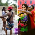 Watch Moment Wizkid Slaps & Rubs Tiwa Savage's Bum Bum At A Beach In Lagos