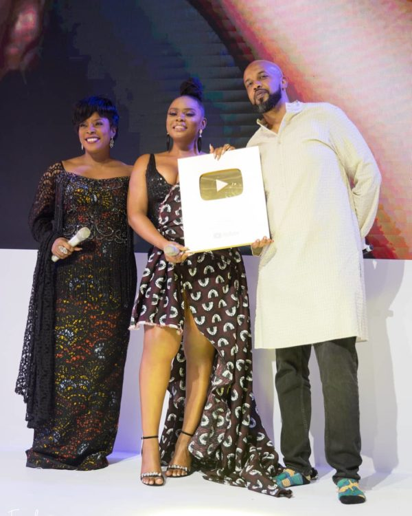 "Yemi Alade Gets YouTube's ""Gold Play Button"" Award"