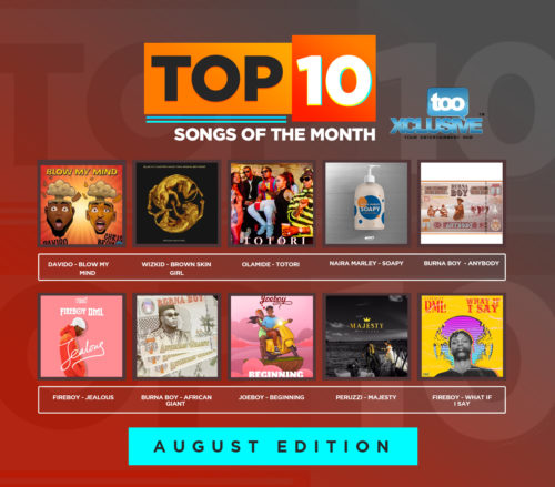 "Top 10 Nigerian Songs Of The Month (August Edition), Is Davido's ""Blow My Mind"" The Hottest Song In The Country?"