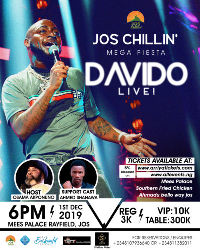Jos Chillin' Mega Fiesta Returns With Davido Live! 1