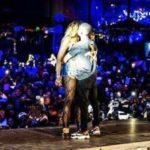 Tiwa Savage & Wizkid French Kiss Passionately On Stage In Paris, Wizkid Grabs Butt Also || Watch Video