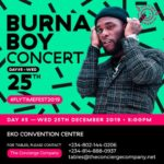 BURNA BOY ANNOUNCED FOR FLYTIME MUSIC FESTIVAL 2019 DAY 5!