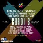 Livespot X Festival: Burna Boy, Fire Boy, Tiwa Savage and Others To Perform Alongside Cardi B