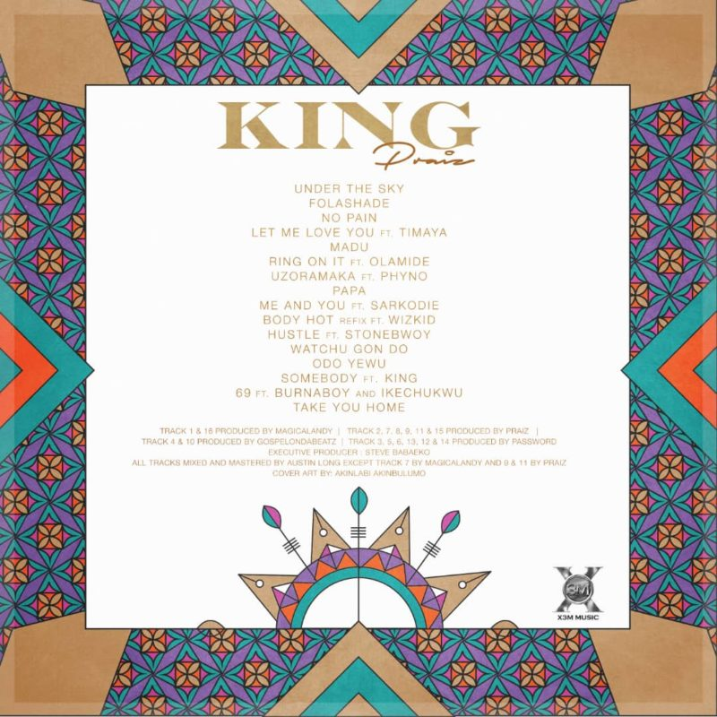 "Praiz to drop ""King"" Album this December, View Album Art & Tracklist 2"