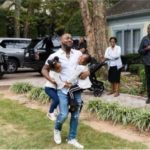 See This Beautiful Family Picture Of Davido, Dad & His Daughters At An Event In The US