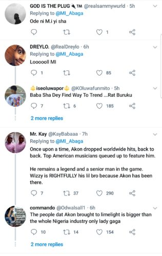 """Twitter Roast MI Abaga After Calling Out Akon For Reffering To Wizkid As """"Lil Bro"""" 4"""