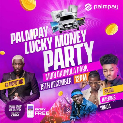 One Person At This Free Party In Lagos Will Walk Away With A Car This Weekend, Will It Be You?