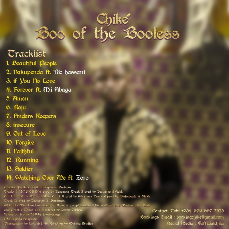 "M.I, Zoro & Ric Hassani Feature on Chike's Debut Album ""Boo of the Booless"" 2"