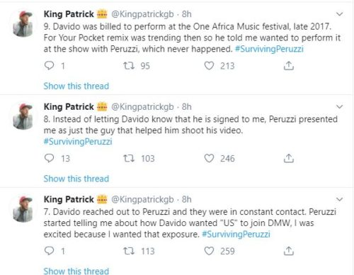 """""""Davido & Peruzzi Are After My Life After Betraying Me""""- Golden Boy CEO; Patrick Cries Out 4"""