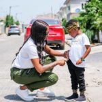 Tiwa Savage's Son; Jamil, Expresses Great Joy As Mom Takes Him To See His Grandma || See Beautiful Photos