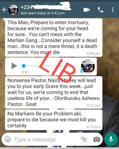Pastor Chris Omashola Issues Stern Warning To Naira Marly & Marlians After Receiving Death Threats 3