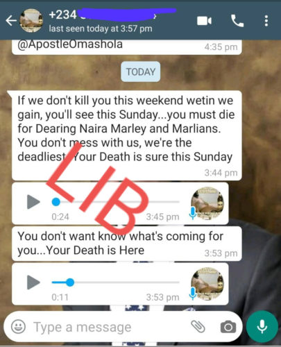 Pastor Chris Omashola Issues Stern Warning To Naira Marly & Marlians After Receiving Death Threats 2