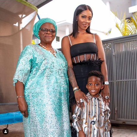 Tiwa Savage's Son; Jamil, Expresses Great Joy As Mom Takes Him To See His Grandma || See Beautiful Photos 2