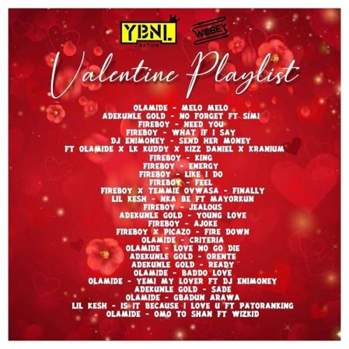 "DJ Enimoney – (YBNL) ""Valentine's Playlist"" Mix"