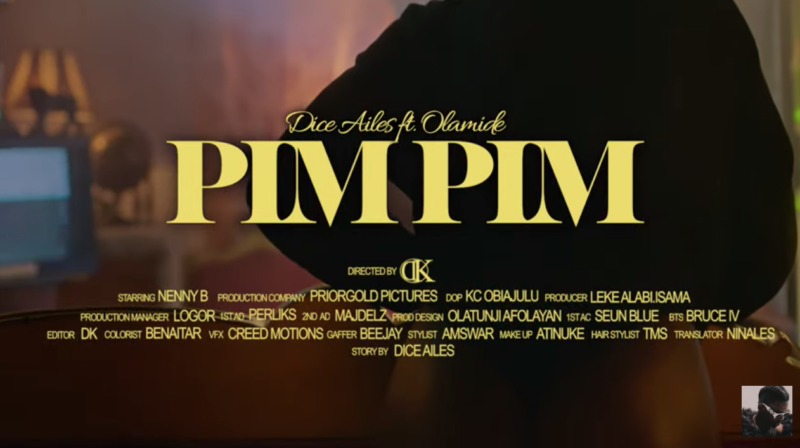 "[Video] Dice Ailes - ""Pim Pim"" ft. Olamide"