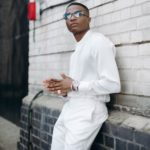 Special Delivery! Wizkid Shares Exclusive Photo Of His Golden Grammy Plaque (Award)