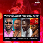 '2Baba', 'Brymo', 'Johnny Drille', 'Kizz Daniel'…. Which Of These Male Artistes Can Perform Live With Asa?