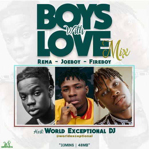 "World Exceptional DJ - ""Boys With Love"" (Mix) f. Rema, Joeboy, Fireboy"