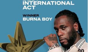 Burna Boy BET Awards Best International Act 2020