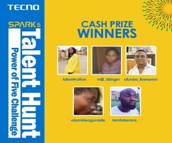 TECNO Wraps Up Spark 5 Talent Hunt, Giving Away 1 Million Naira 2
