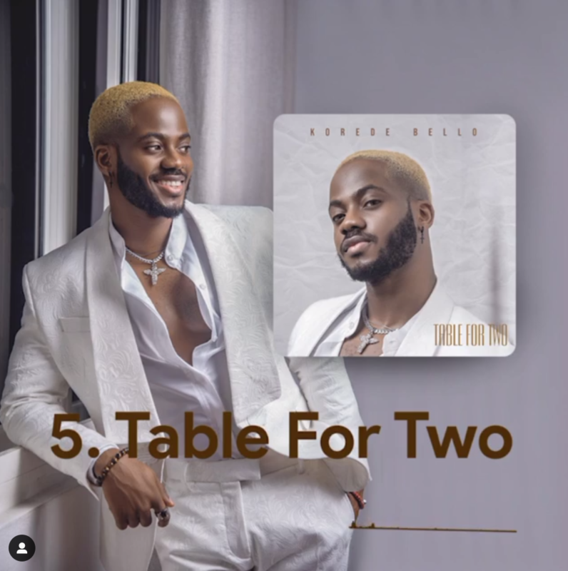 Korede Bello Table For Two Lyrics