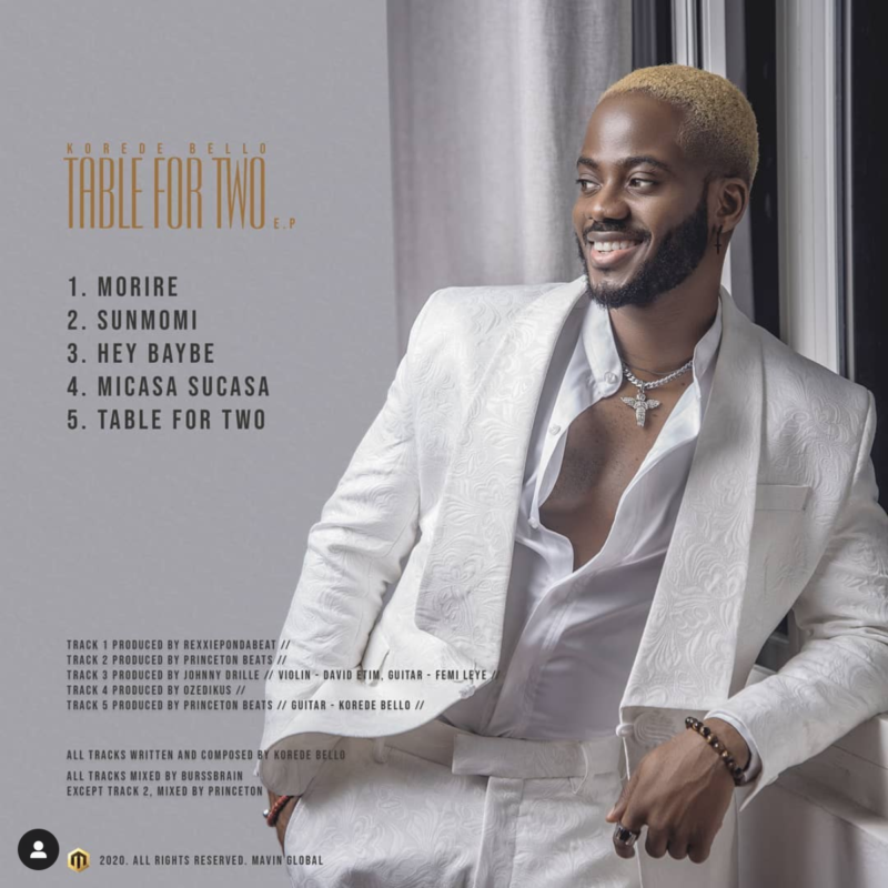 "[EP] Korede Bello – ""Table For Two EP"" 1"
