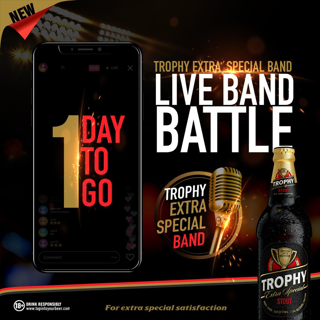 Top Six Emerge in International Breweries Plc's Trophy Stout Live Band ONLINE Battle 1