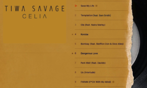 Tiwa Savage Celia Album Track