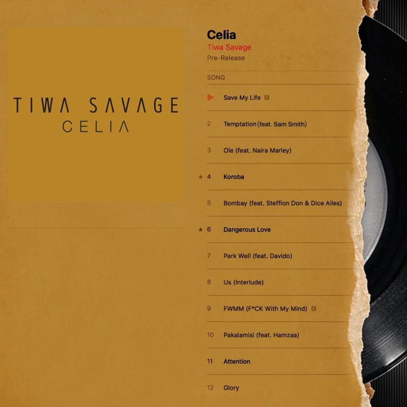 "[Album] Tiwa Savage – ""Celia"" 1"