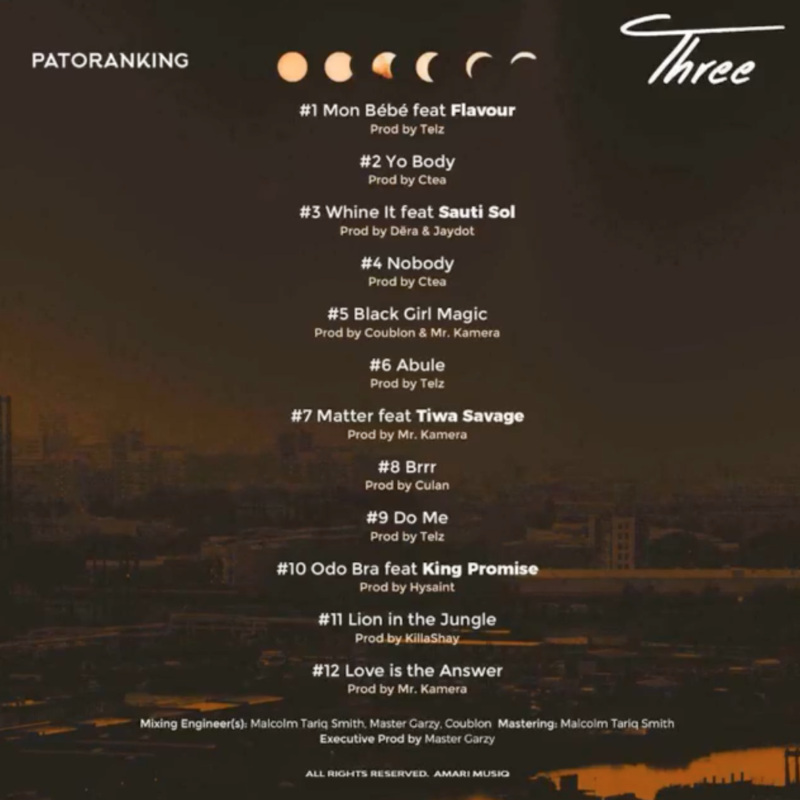 """[Album] Patoranking – """"Three"""" 1"""