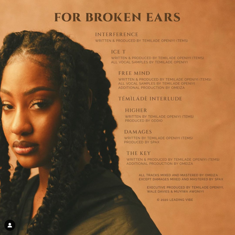 Tems For Broken Ears Tracklist