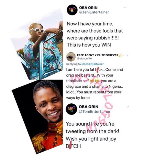 Teni Slams Twitter Troll Who Body Shamed Her For Supporting Laycon 2