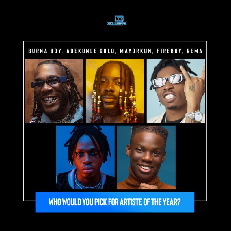 Who Has Been The Best Artiste Of 2020, So Far?… Burna, Adekunle, Mayorkun, Fireboy Or Rema?