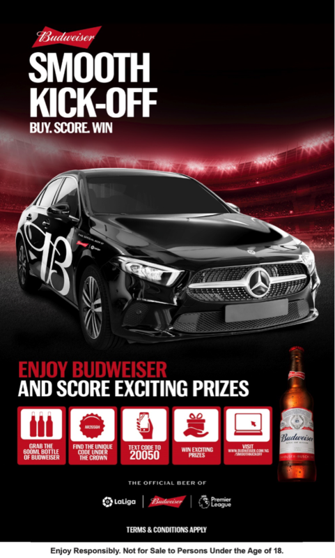 Budweiser to Gift Consumers Mercedes Benz, PlayStation 5 In Smooth Kick-off Promo 1