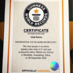 Infinix features 51 rappers and bags a GUINNESS WORLD RECORD for Most people In An Online Rapping Relay
