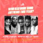 Who Had More Song Anthems In 2020?… Olamide, Burna Boy, Mayorkun, Omah Lay or Davido?