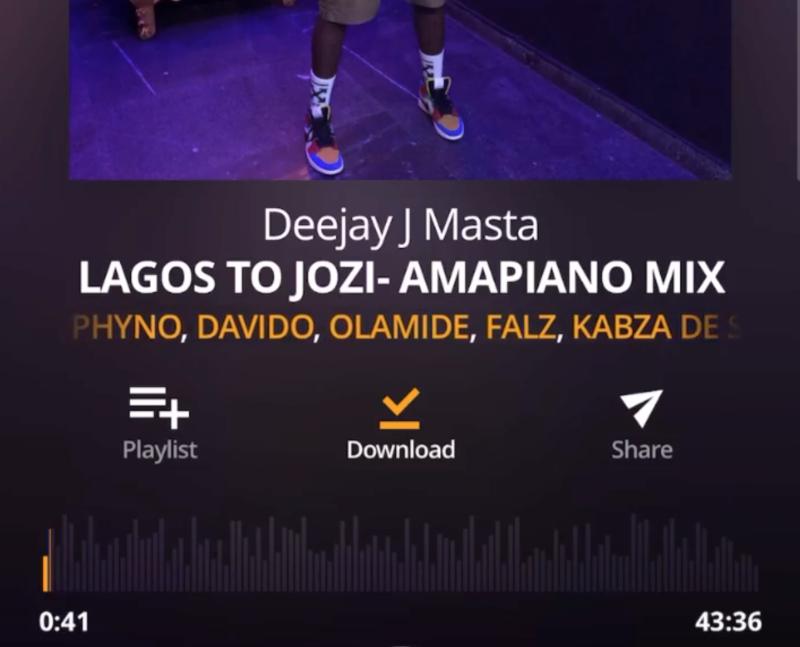 Deejay J Masta Amapiano Mix (Lagos To Jozi)
