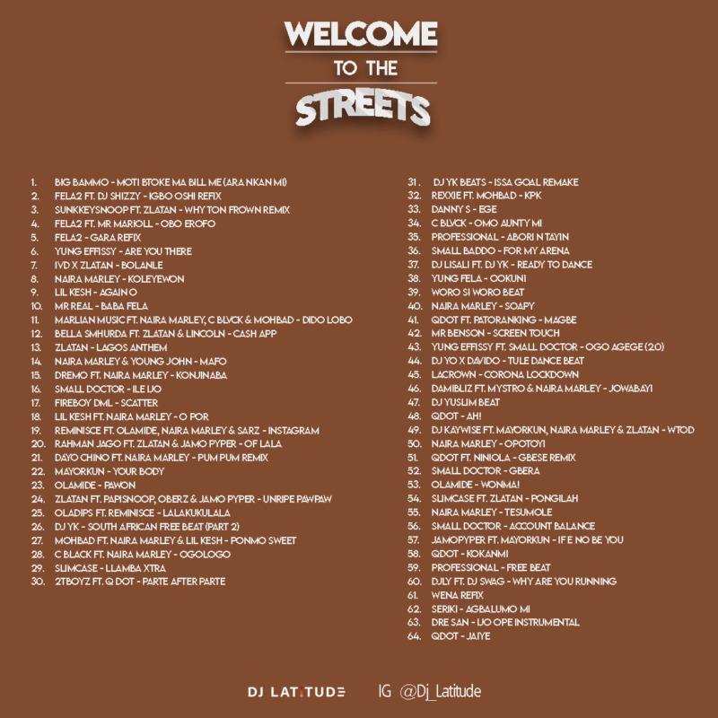 "[Mixtape] DJ Latitude – ""Welcome To The Streets"" 1"
