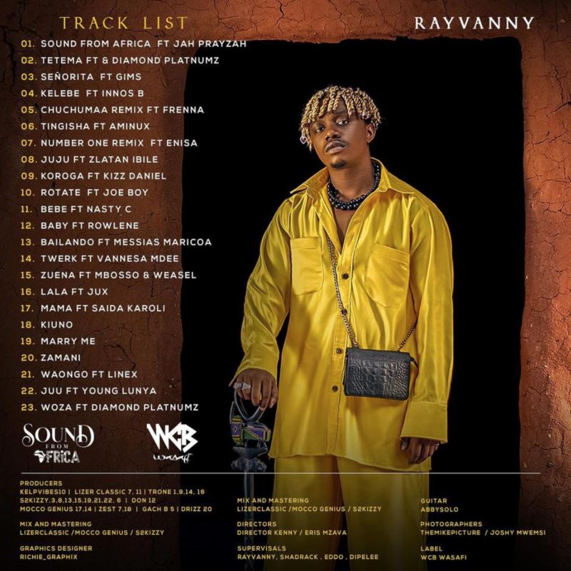 Rayvannys Tracklist