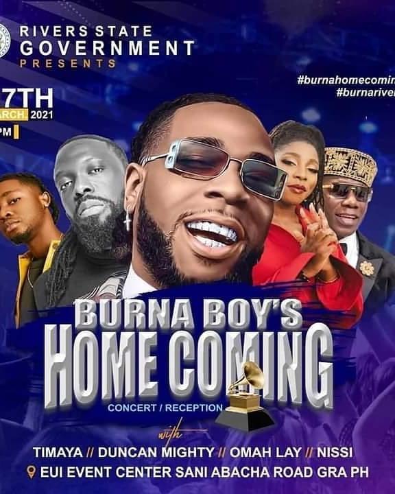 Burna Boy's Homecoming Rivers State