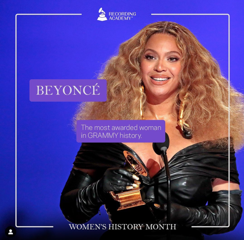Women's History Month Beyonce